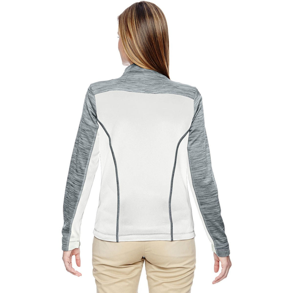 North End Women's Crystal Quartz Shuffle Performance Melange Interlock Jacket