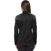 North End Women's Black Quick Performance Interlock Half-Zip Top