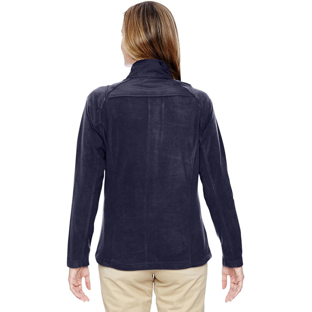 North End Women's Navy Excursion Trail Fabric-Block Jacket