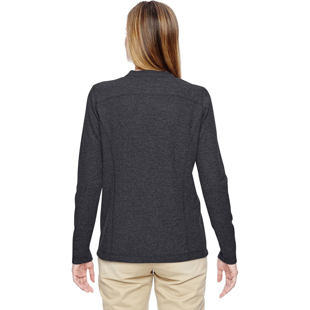 North End Women's Navy Excursion Nomad Performance Waffle Henley