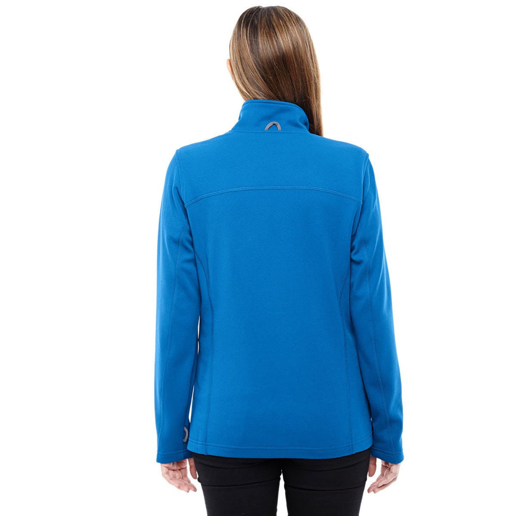 North End Women's Nautical Blue/Platinum Performance Fleece Jacket
