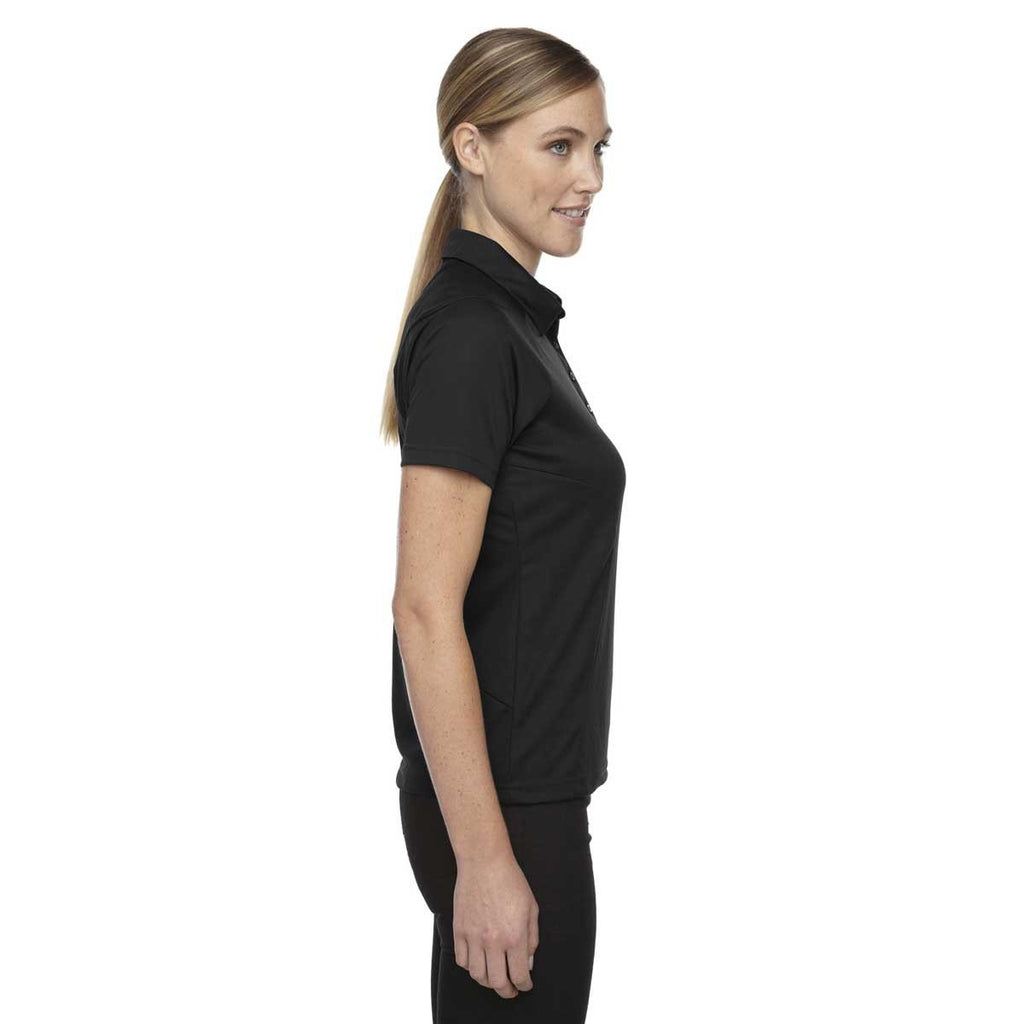 North End Women's Black Dolomite UTK Performance Polo
