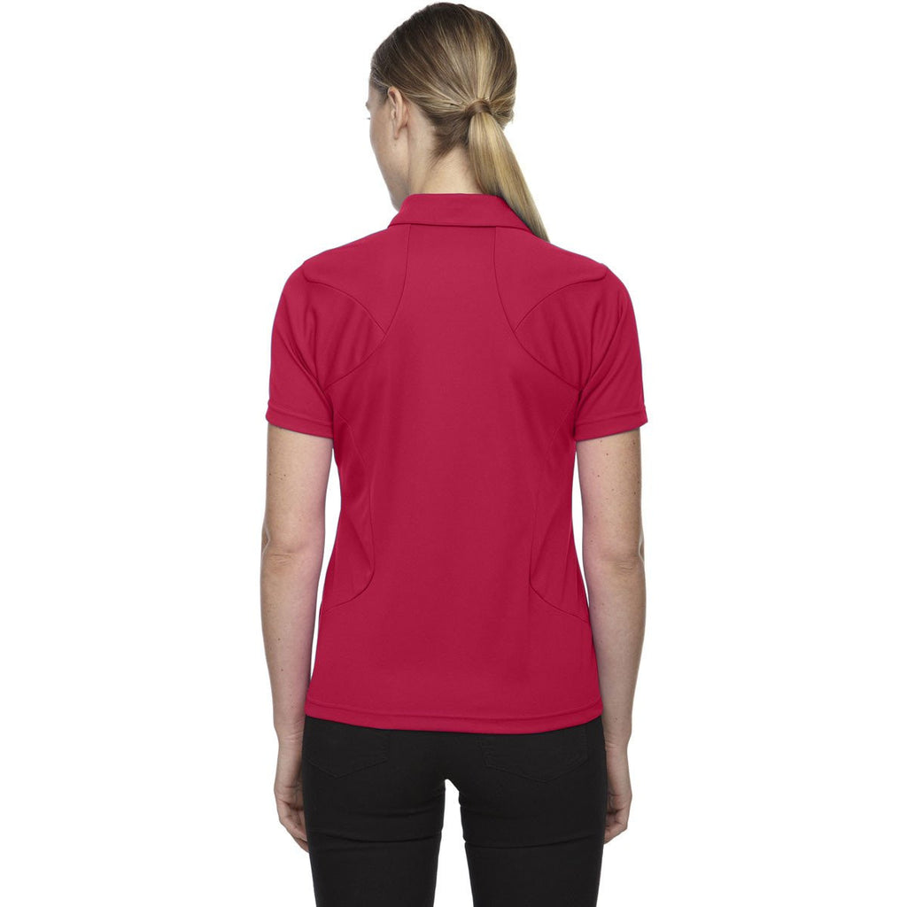 North End Women's Olympic Red Dolomite UTK Performance Polo