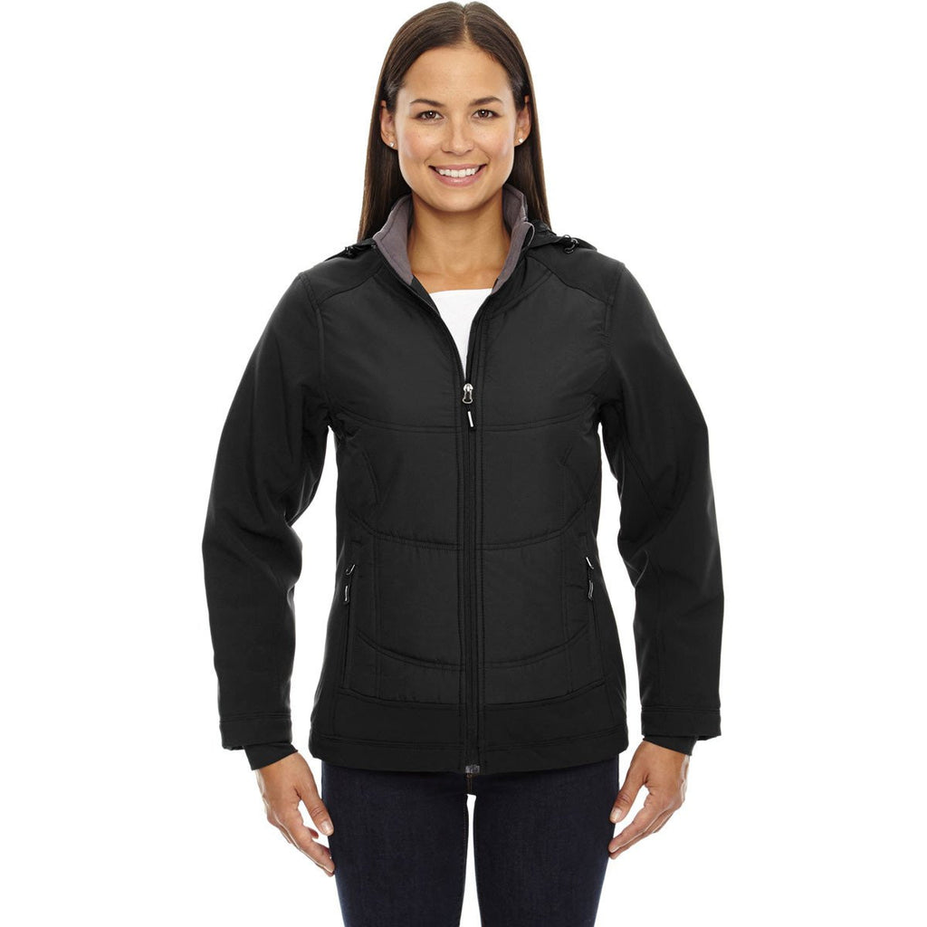 North End Women's Black Neo Insulated Hybrid Jacket