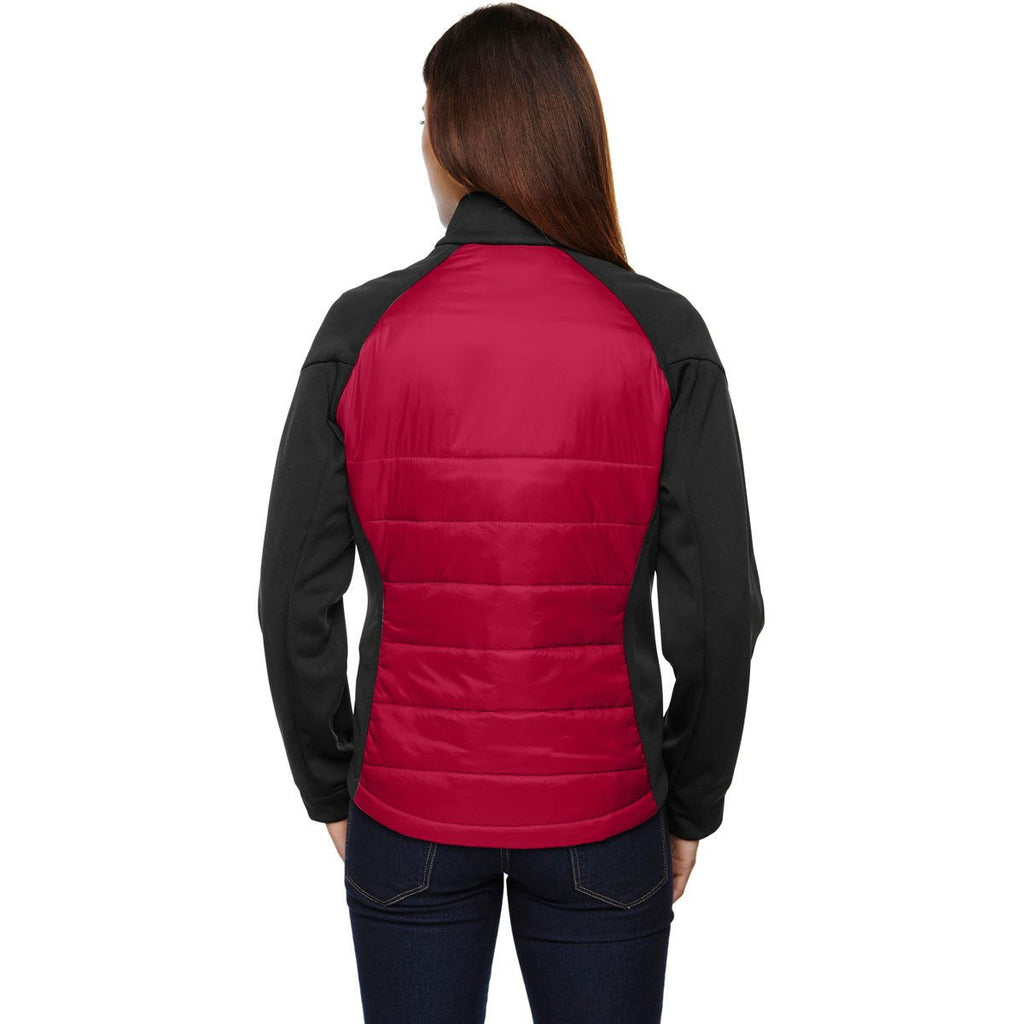 North End Women's Olympic Red Epic Insulated Hybrid Bonded Fleece Jacket