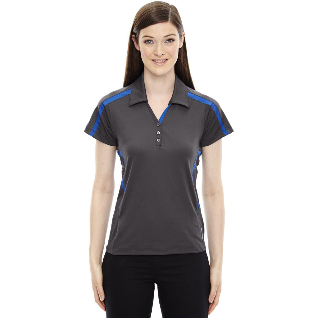 North End Women's Black Silk Accelerate Performance Polo