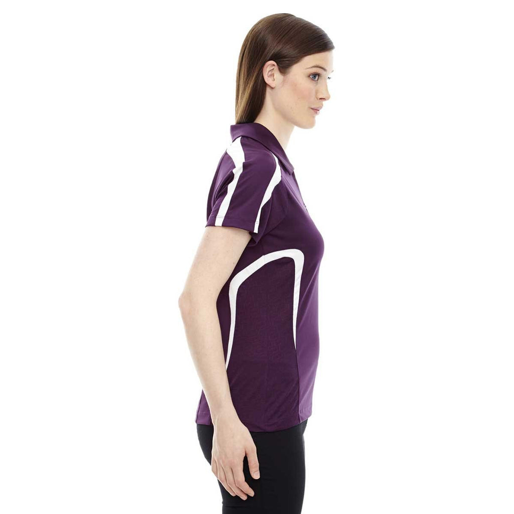 North End Women's Mulberry Purple Accelerate Performance Polo