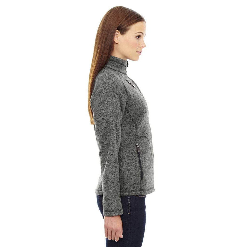 North End Women's Heather Charcoal Peak Jacket