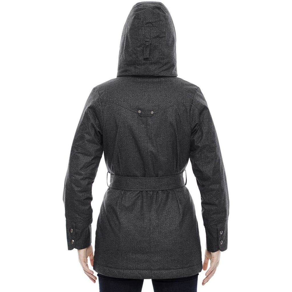 North End Women's Carbon Heather Jacket with Heat Reflect Technology