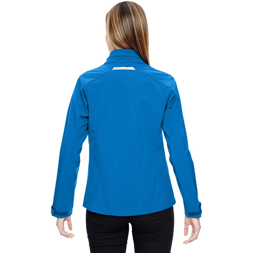 North End Women's Olympic Blue Jacket with Laser Stitch Accents