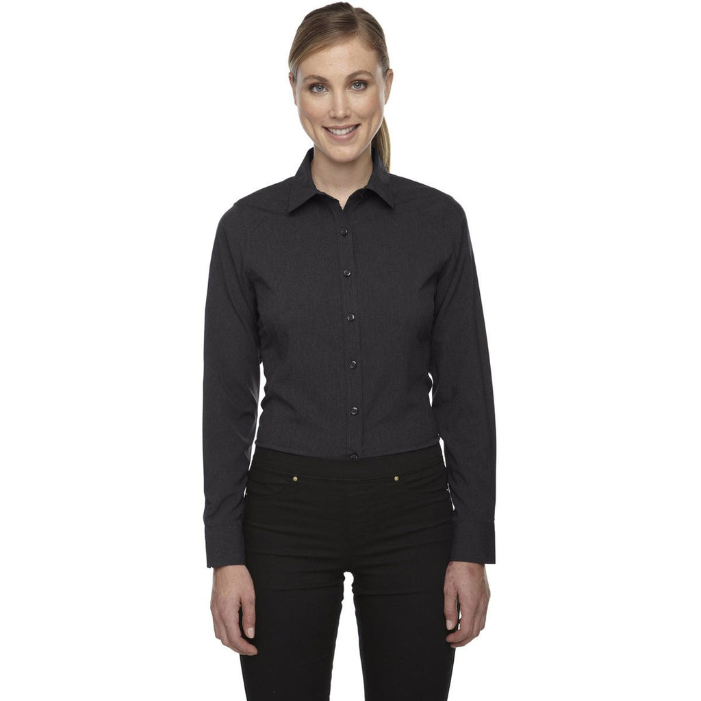 North End Women's Carbon Heather Melange Performance Shirt