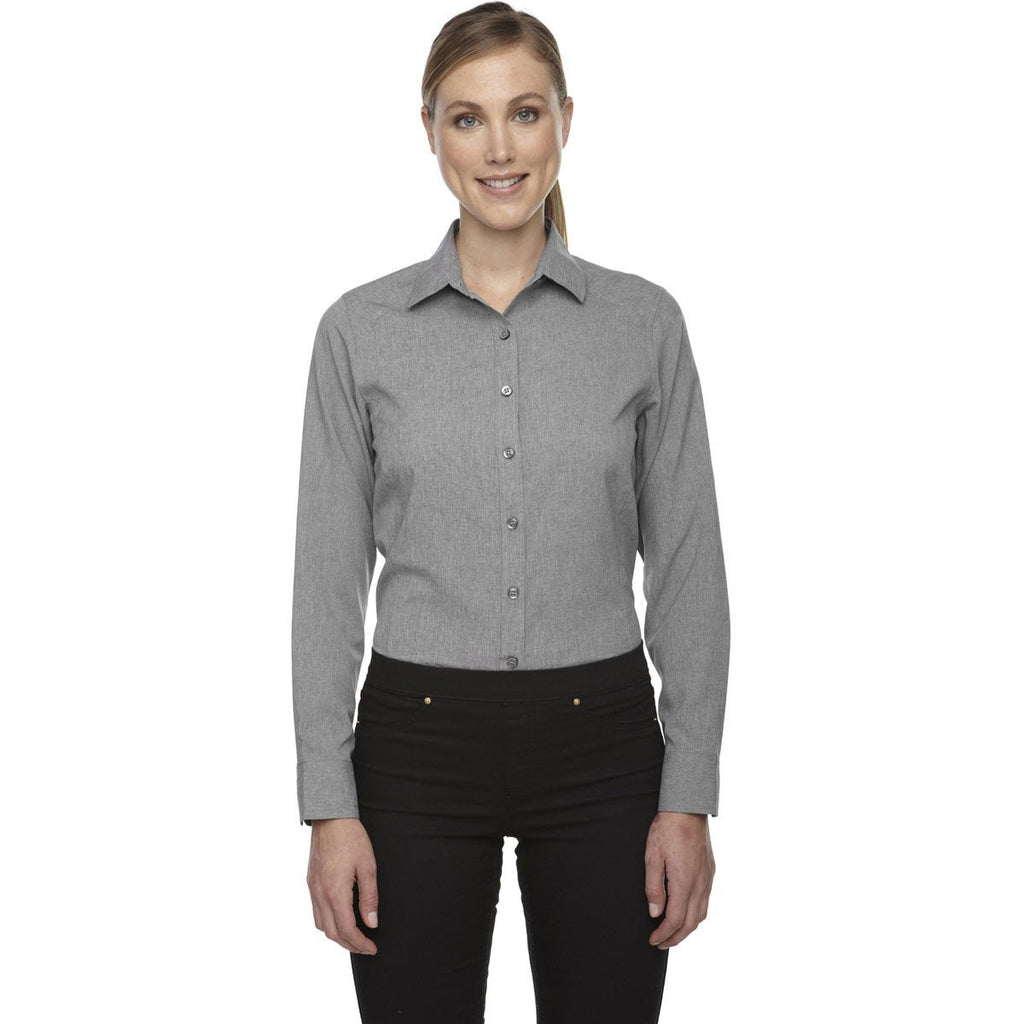 North End Women's Light Heather Melange Performance Shirt