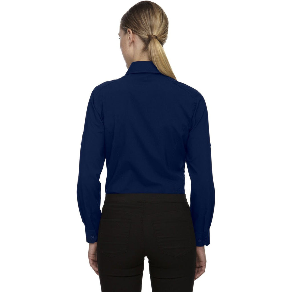 North End Women's Night Performance Shirt with Roll-Up Sleeves