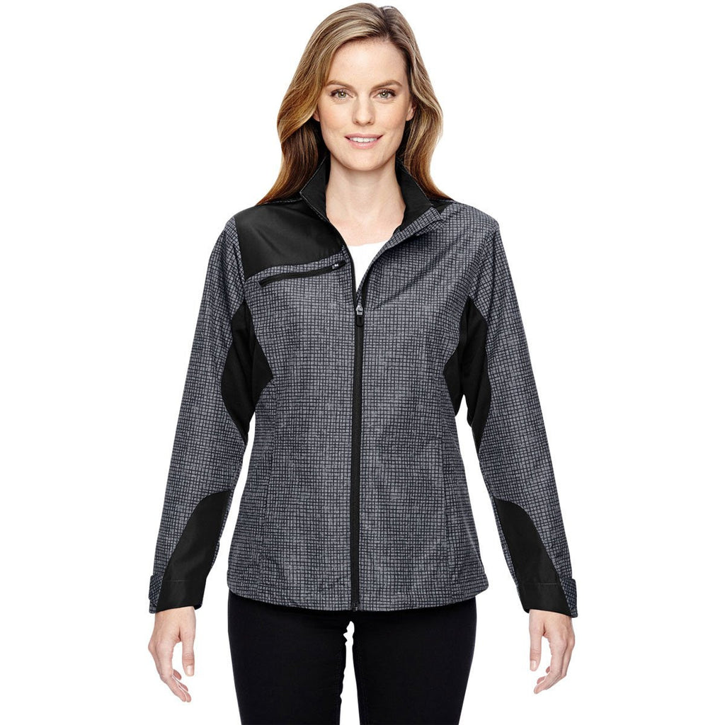 North End Women's Carbon Interactive Sprint Printed Jacket
