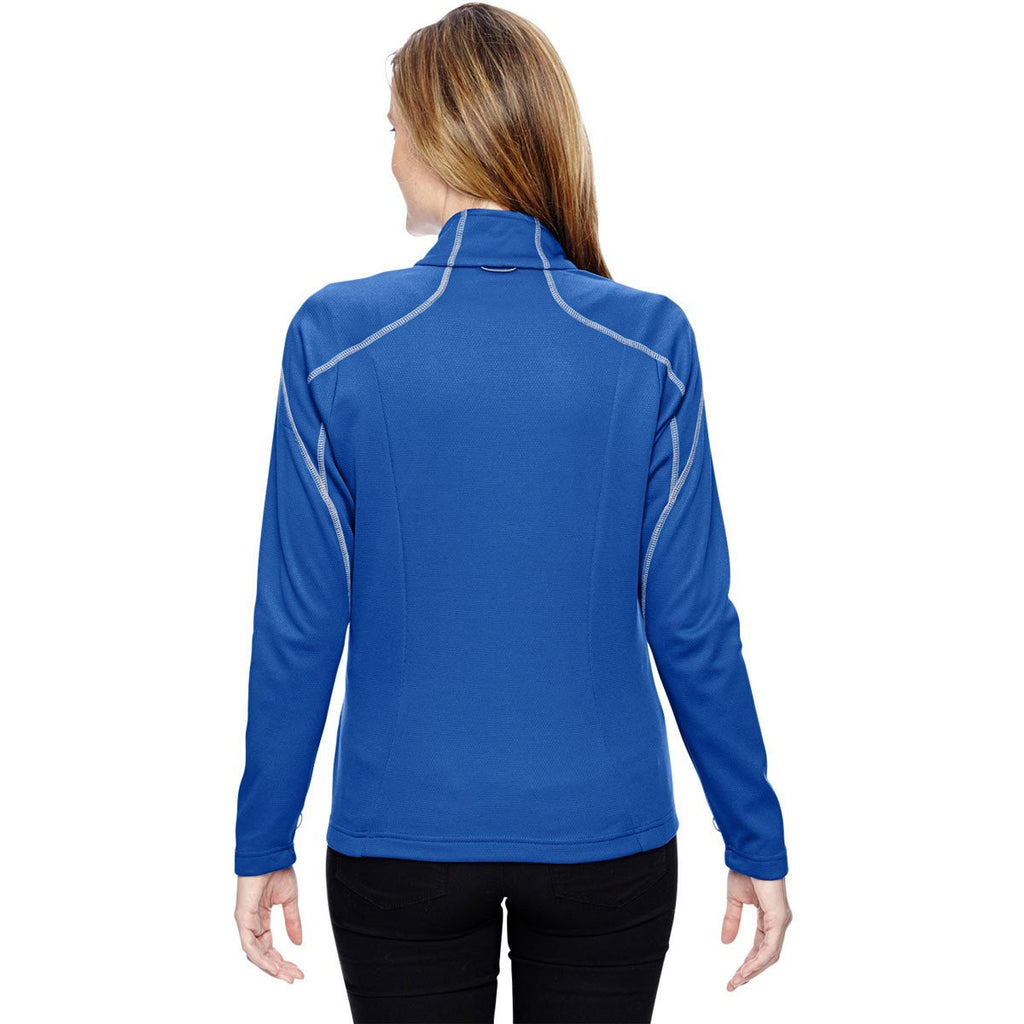 North End Women's Nautical Blue Two-Tone Brush Back Jacket