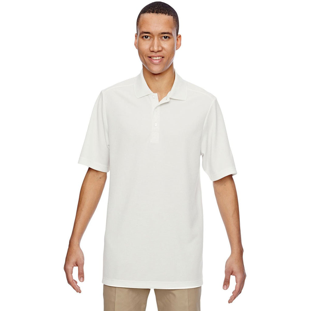 North End Men's Crystal Quartz Excursion Nomad Performance Waffle Polo