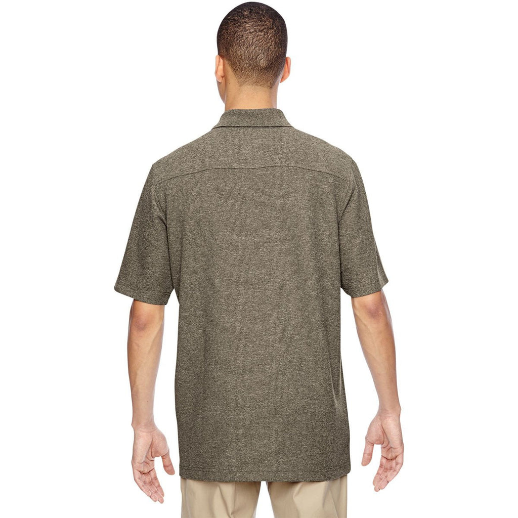 North End Men's Dark Oakmoss Excursion Nomad Performance Waffle Polo