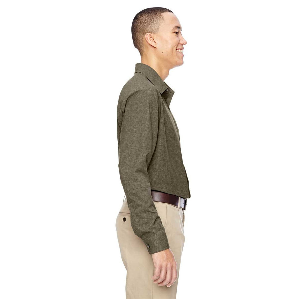 North End Men's Dark Oakmoss Excursion Utility Two-Tone Performance Shirt