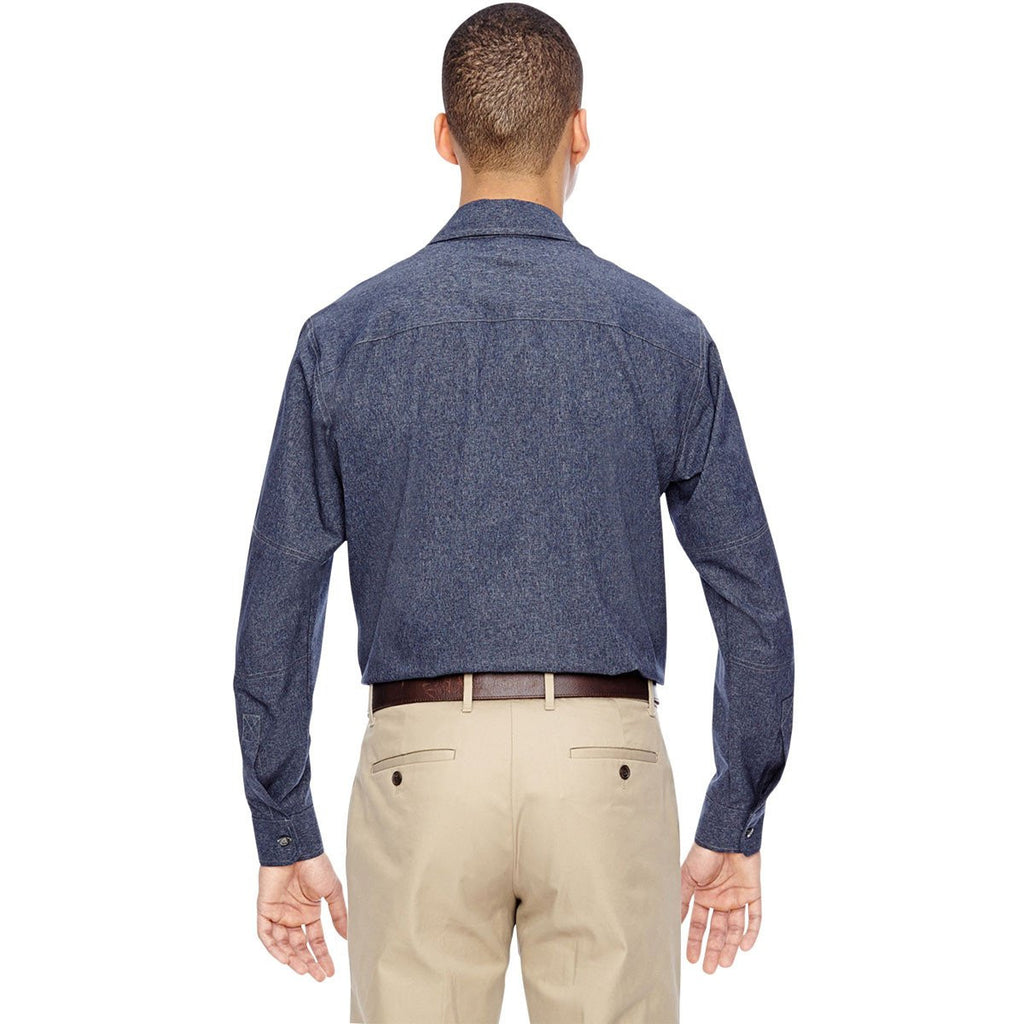 North End Men's Navy Excursion Utility Two-Tone Performance Shirt