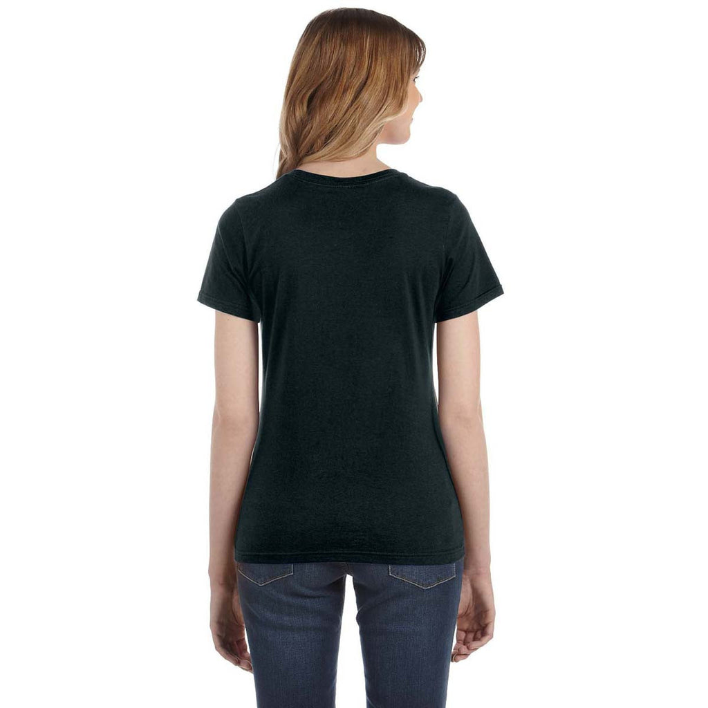 Anvil Women's Black Lightweight T-Shirt
