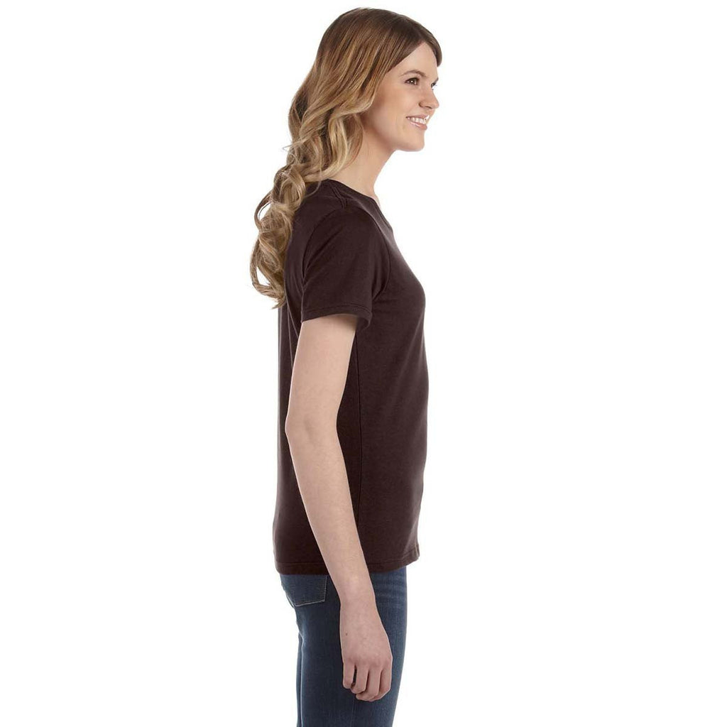 Anvil Women's Chocolate Lightweight T-Shirt