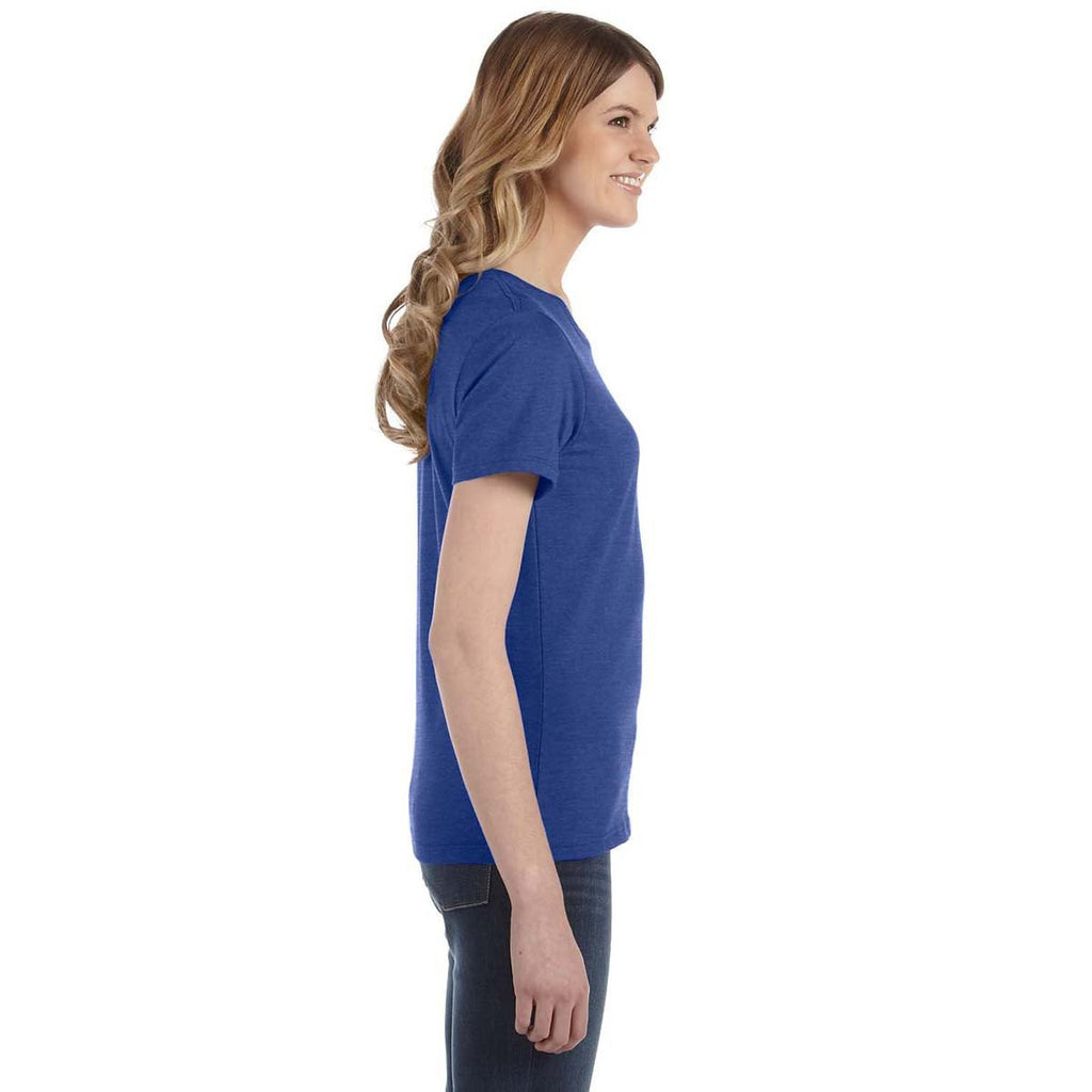 Anvil Women's Heather Blue Lightweight T-Shirt