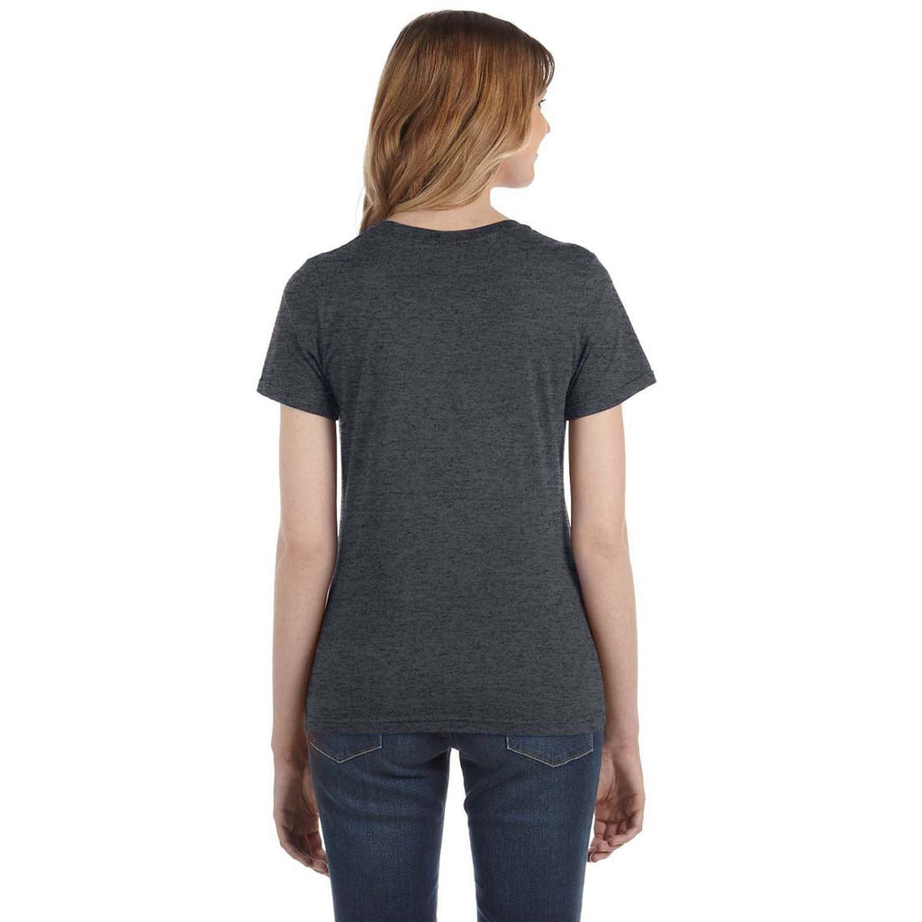 Anvil Women's Heather Dark Grey Lightweight T-Shirt