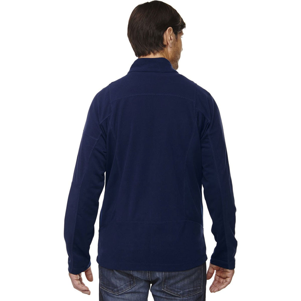 North End Men's Night Generate Textured Fleece Jacket