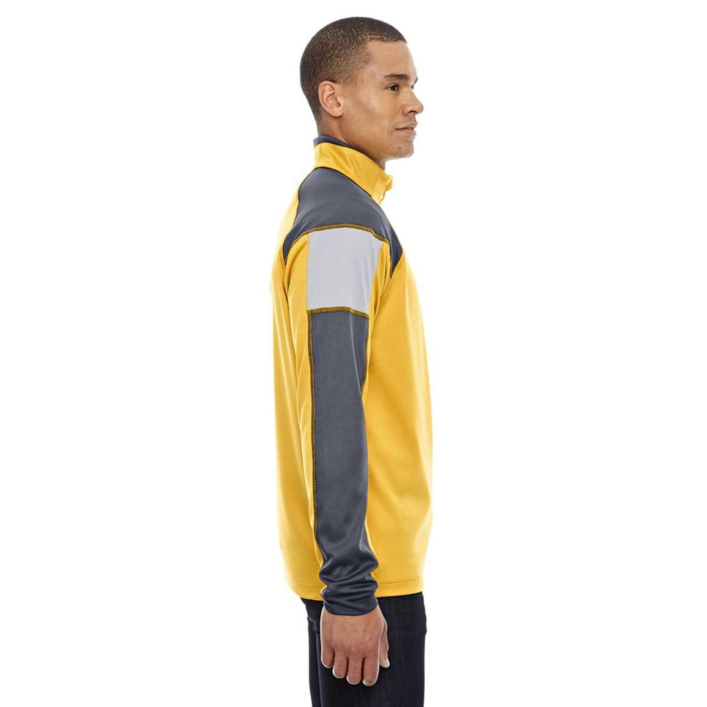 North End Men's Campus Gold Quick Performance Interlock Half-Zip Top