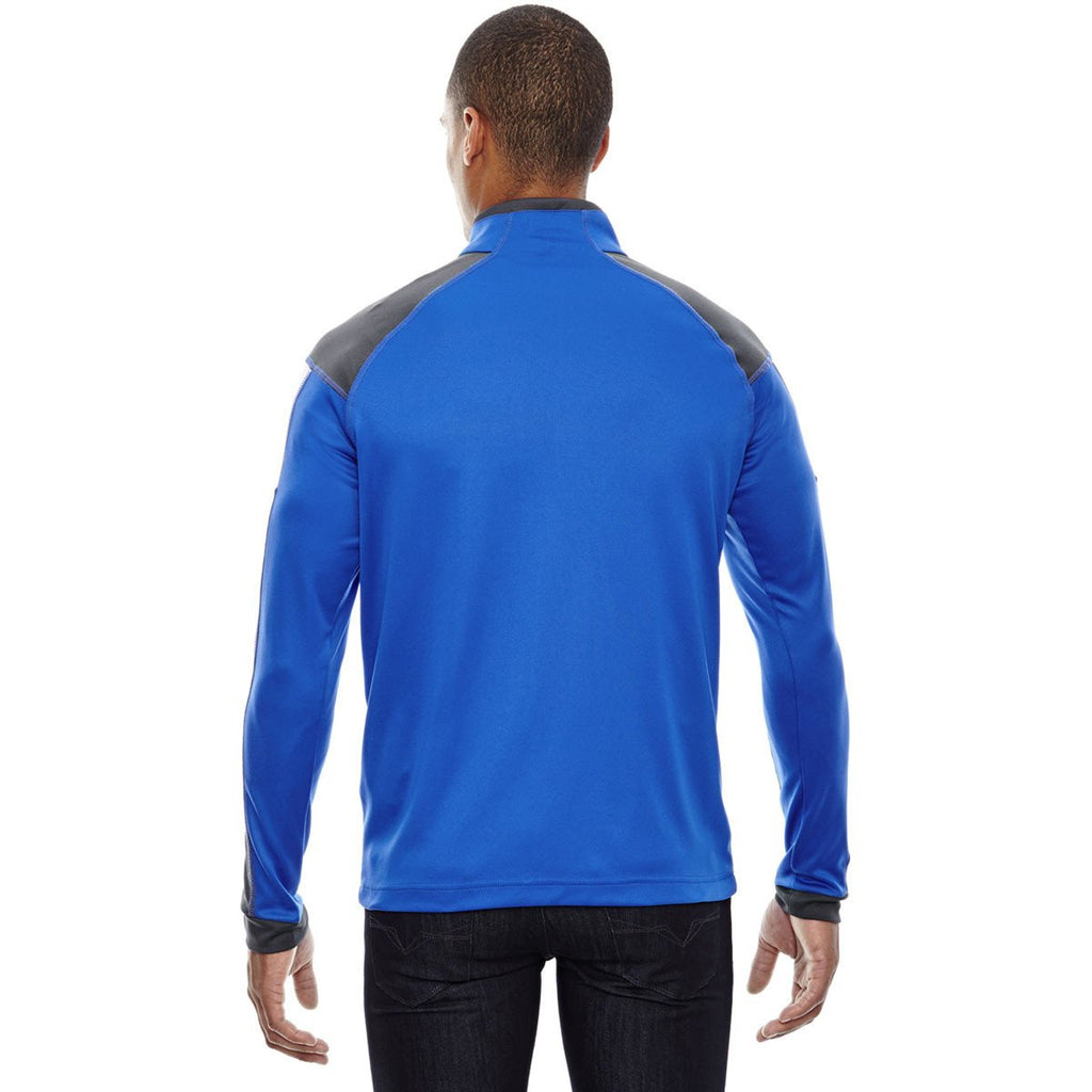 North End Men's True Royal Quick Performance Interlock Half-Zip Top