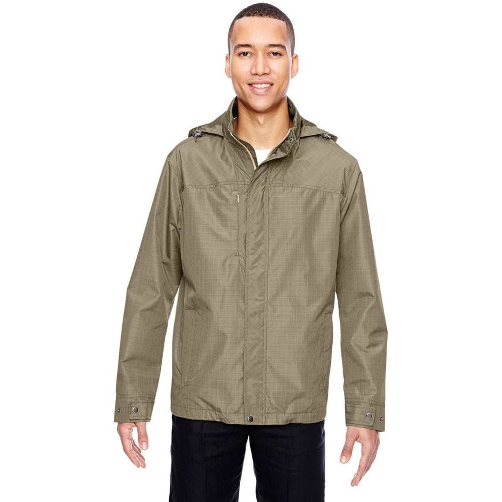 North End Men's Stone Excursion Transcon Lightweight Jacket with Pattern