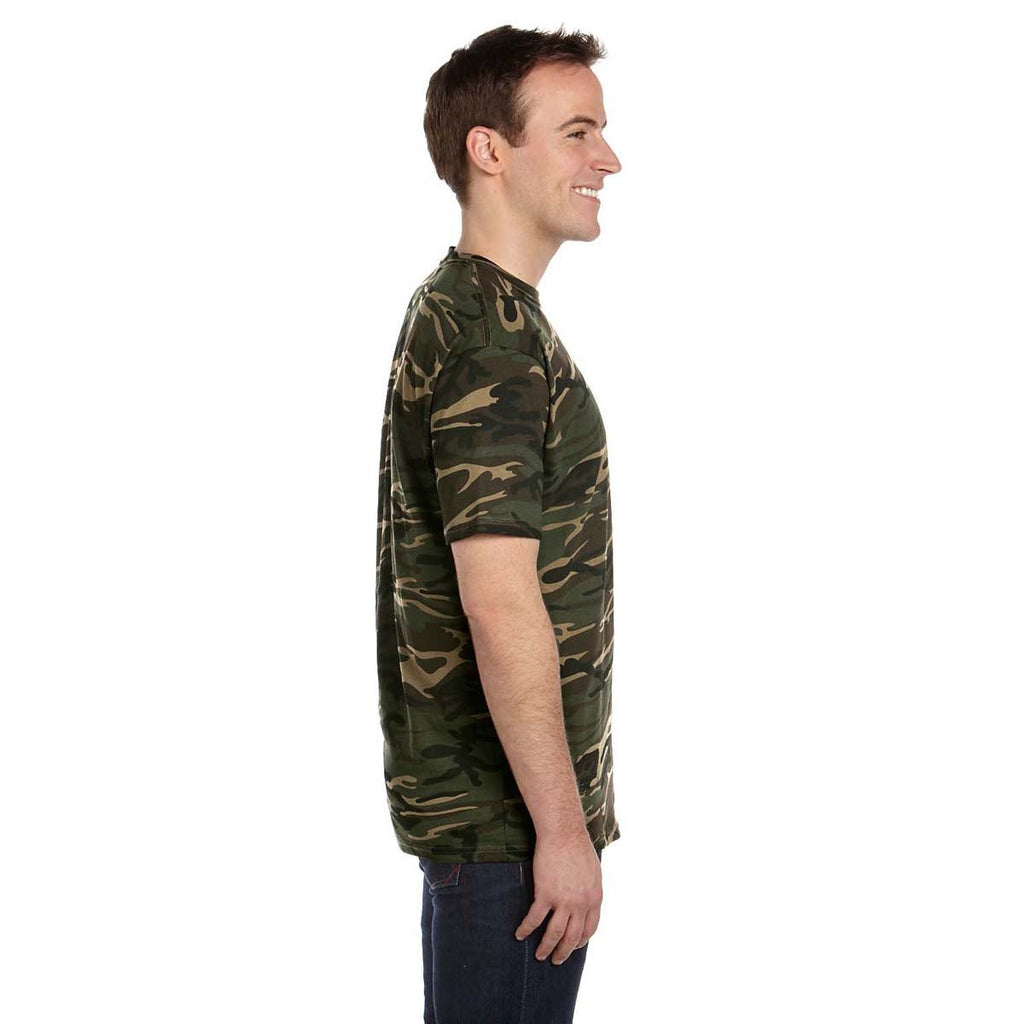 Anvil Men's Green Midweight Camouflage T-Shirt