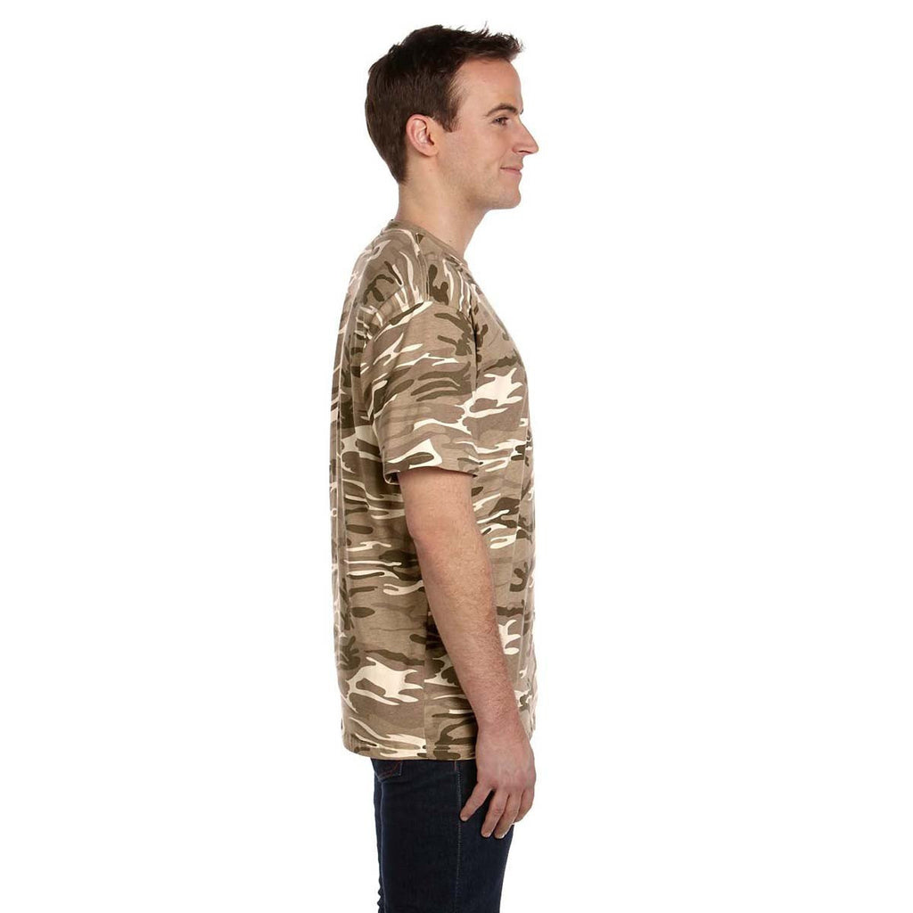Anvil Men's Sand Midweight Camouflage T-Shirt