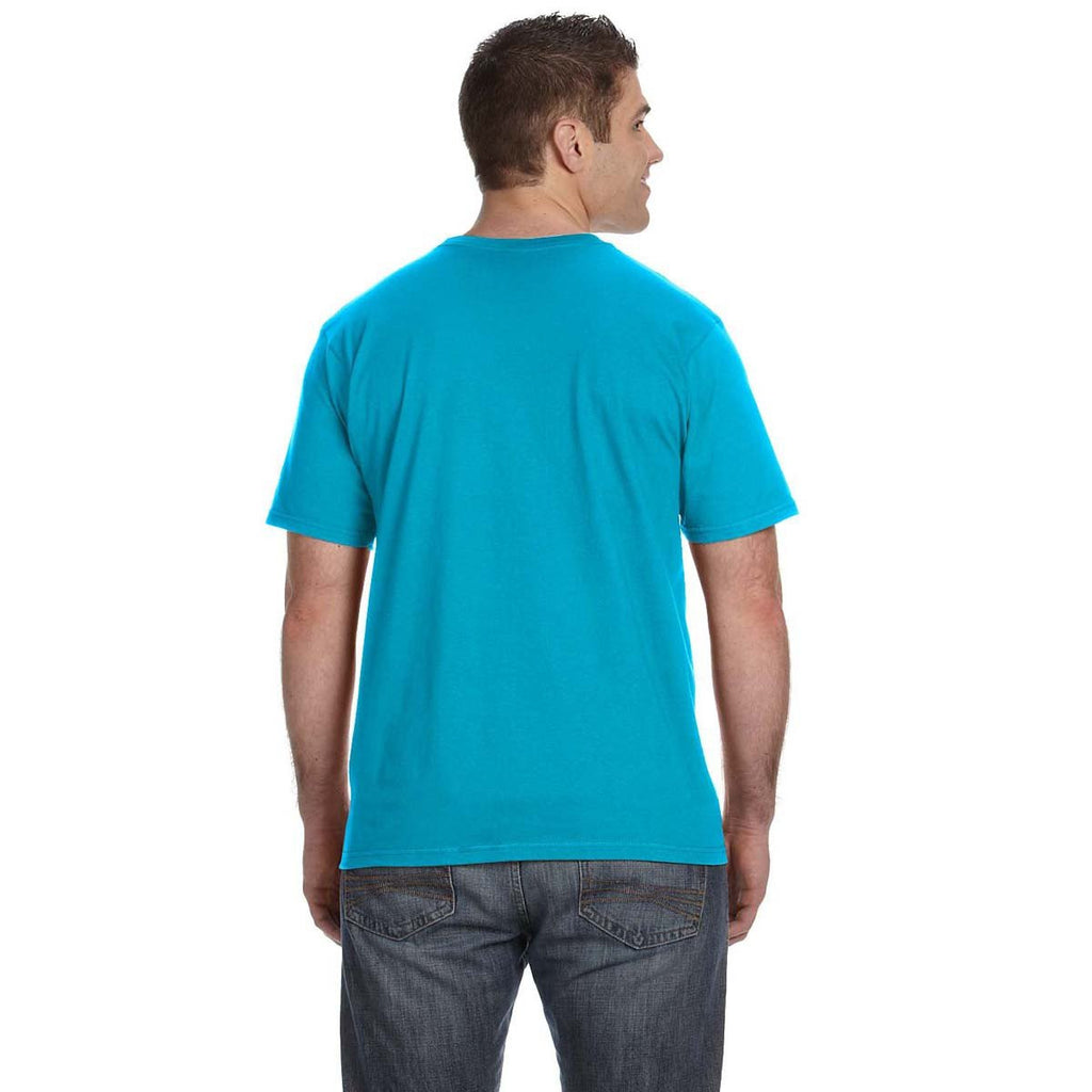Anvil Men's Caribbean Blue Lightweight T-Shirt