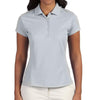 adidas-ladies-light-grey-polo-solid