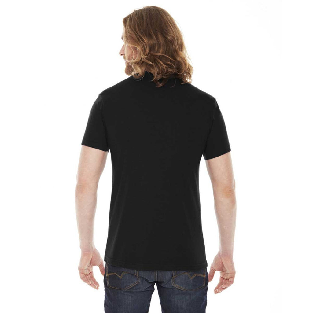American Apparel Unisex Black 50/50 Short Sleeve Tee