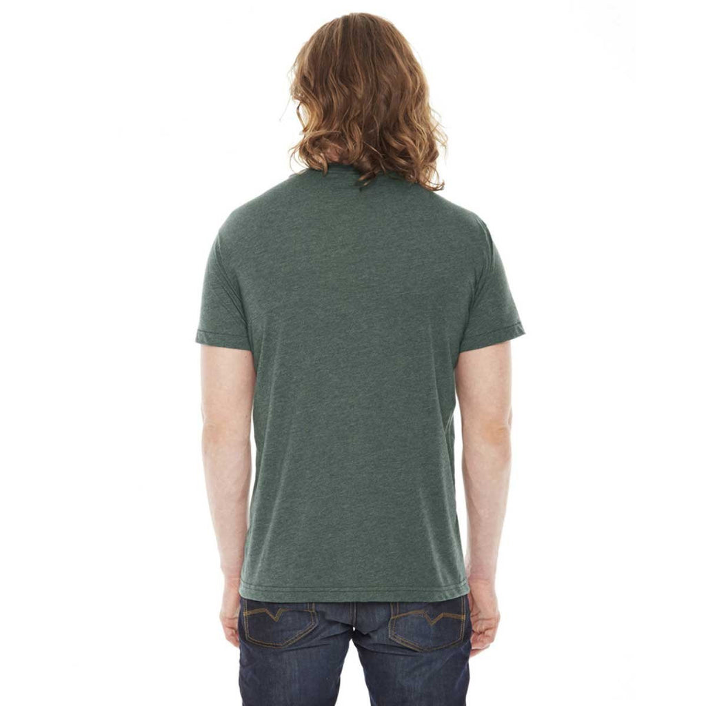 American Apparel Unisex Heather Forest 50/50 Short Sleeve Tee