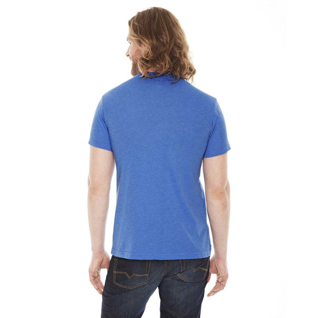 American Apparel Unisex Heather Lake Blue 50/50 Short Sleeve Tee