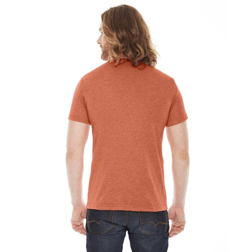 American Apparel Unisex Heather Orange 50/50 Short Sleeve Tee