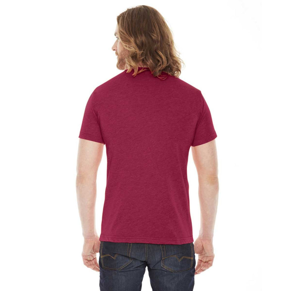 American Apparel Unisex Heather Red 50/50 Short Sleeve Tee
