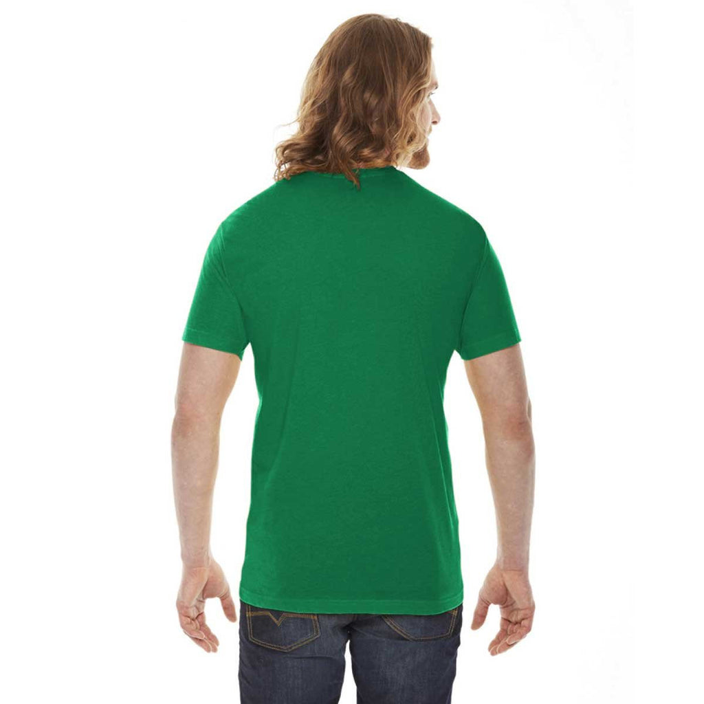 American Apparel Unisex Kelly Green 50/50 Short Sleeve Tee