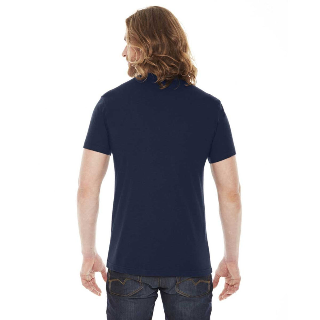 American Apparel Unisex Navy 50/50 Short Sleeve Tee