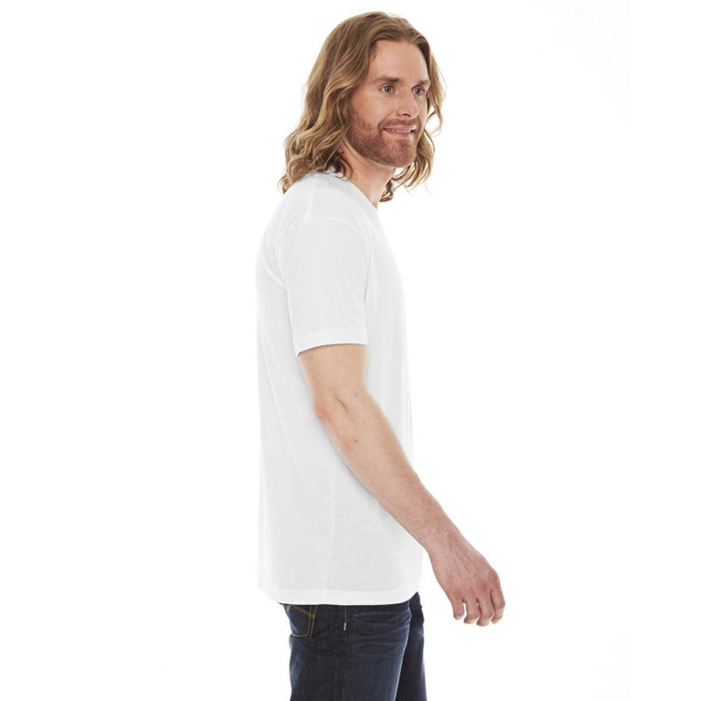 American Apparel Unisex White 50/50 Short Sleeve Tee