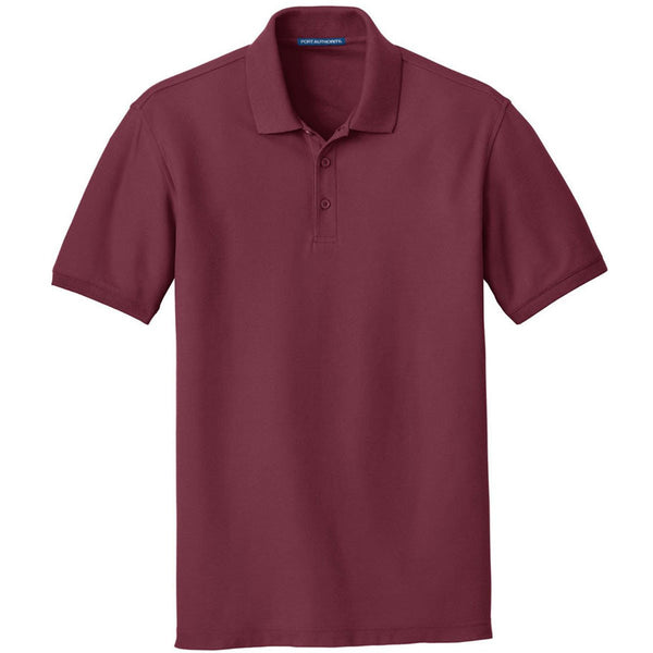 Port Authority Polo de piqué clásico Burgundy Core para hombre c7ddb7af58796