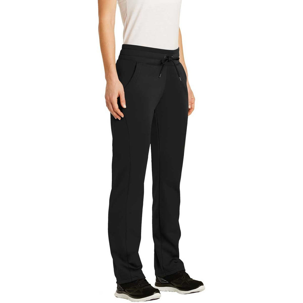 Sport-Tek Women's Black Sport-Wick Fleece Pant