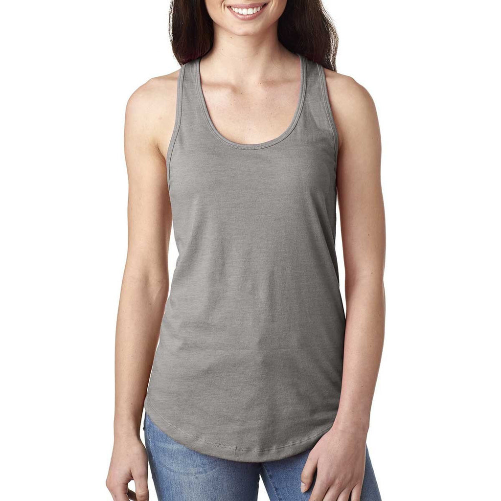 Next Level Women's Heather Grey Ideal Racerback Tank