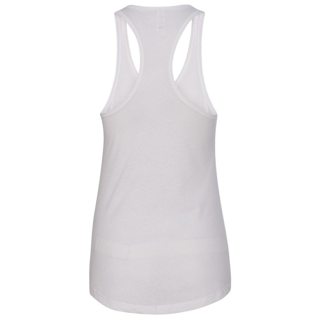 Next Level Women's White Ideal Racerback Tank