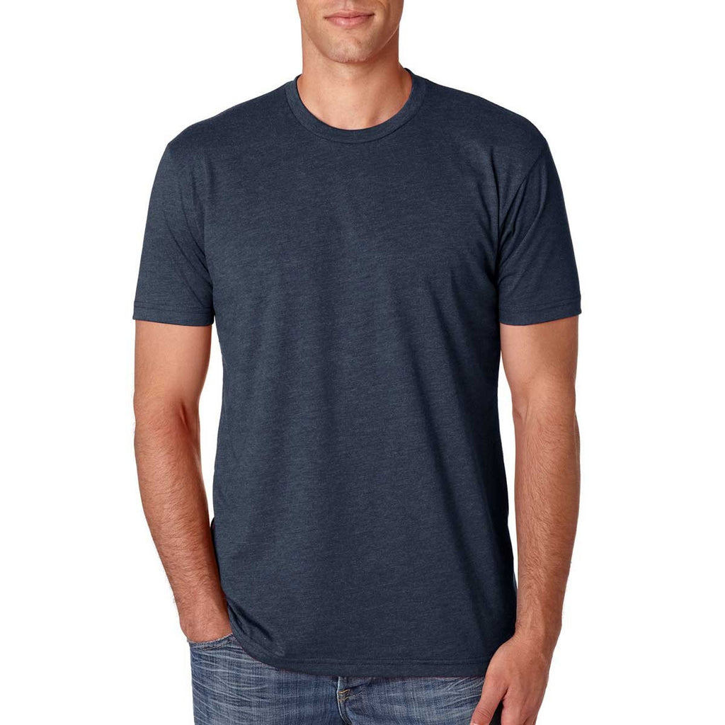 Next Level Men's Midnight Navy Premium Fitted CVC Crew Tee