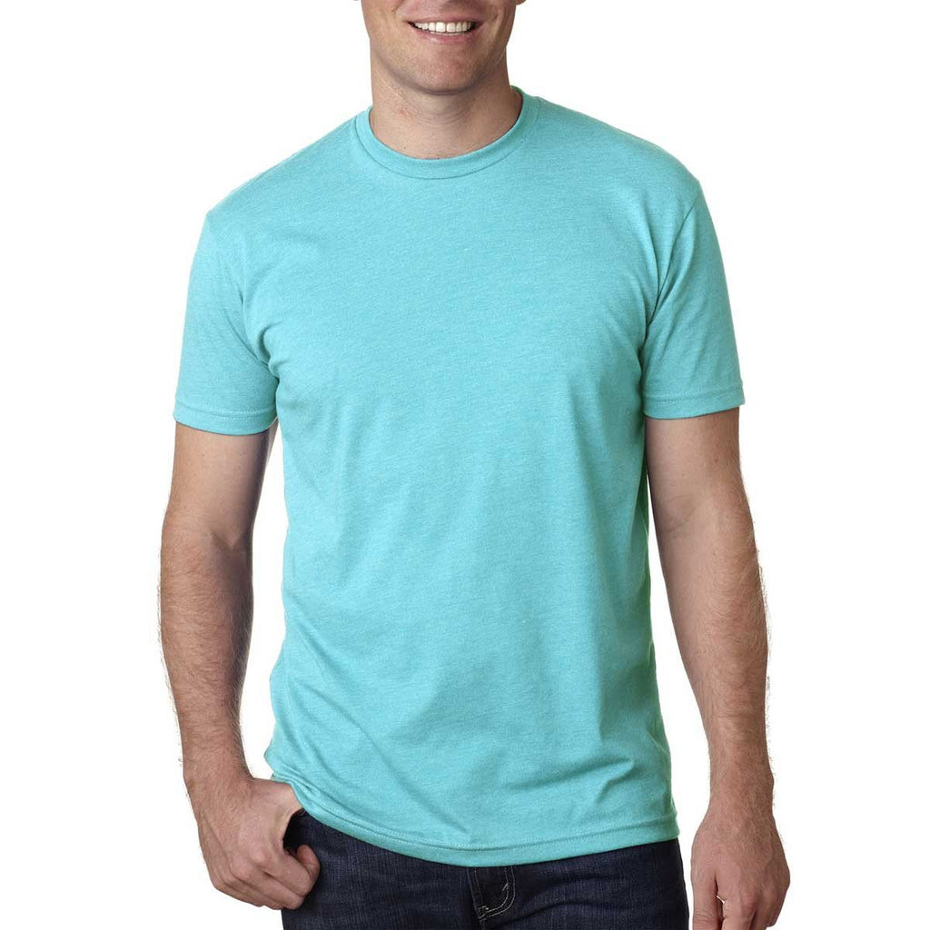 Next Level Men's Tahiti Blue Premium Fitted CVC Crew Tee