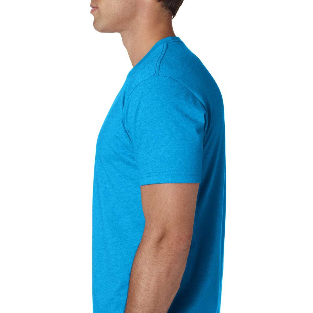 Next Level Men's Turquoise Premium Fitted CVC Crew Tee